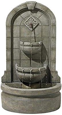 "Lamps Plus Essex Spigot English Outdoor Wall Water Fountain 41 1/2"" High Three Tier for Yard Garden Patio Deck Home Hallway - John Timberland"