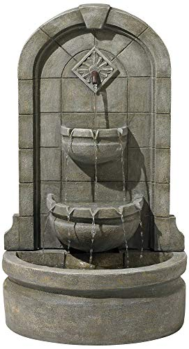 Lamps Plus Essex Spigot English Outdoor Wall Water Fountain 41 1/2' High Three Tier for Yard Garden Patio Deck Home Hallway - John Timberland