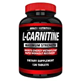 Super Strength L-Carnitine 1000MG Servings Plus Calcium for Boosted...