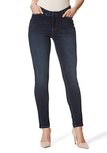 Stooker Florenz Damen Stretch Jeans Hose Slim FIT Style - [Blue Black] (42/28)
