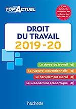 Top'Actuel Droit Du Travail 2019-2020 de Susana Lopes-Dos Santos