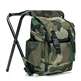 Easy Funny 2 in 1 Fishing Hunting Stool Backpack Rucksack Seat Chair Bag