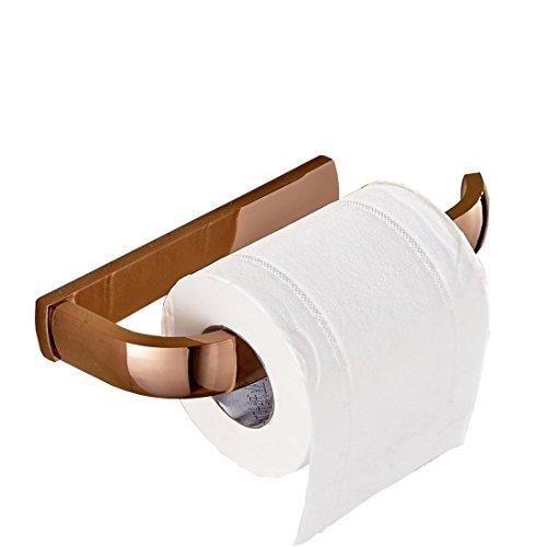 Aothpher Vollständige Kupfer Wand-Toilettenpapierhalter, Kupfer, Rose Gold, 200 * 90 * 27mm