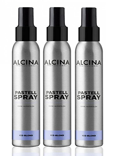 3er Pastell Spray ohne Ausspülen Alcina Professional Ice Blond je 100 ml = 300 ml