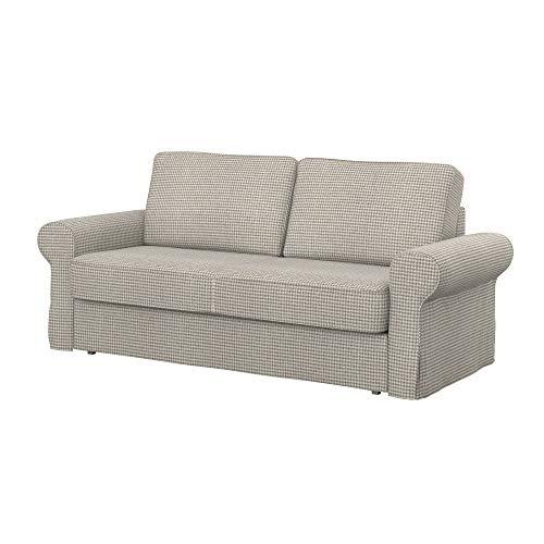 Soferia Funda de Repuesto para IKEA BACKABRO sofá Cama de 3 plazas, Tela Stewart Beige Pattern, Beige
