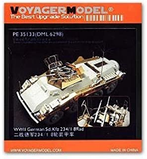KNL HOBBY Voyager Model PE35133 Sd.Kfz.234 / 1 8 rounds of remote armored reconnaissance vehicles to upgrade metal etches