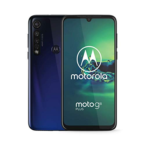 Motorola Moto G8 Plus 64GB XT2019-2 Hybrid Dual SIM GSM Unlocked Phone - Cosmic Blue (Renewed)