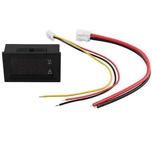 HALJIA DC 0 – 100 V 10 A digital Voltímetro Amperímetro medidor...