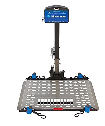 Harmar Mobility Upgraded AL500 Power Wheelchair Lift Outside Fully Automatic Carrier with II/III Hitch Adapter & Wiring Harness -  AL-500-WH-HA