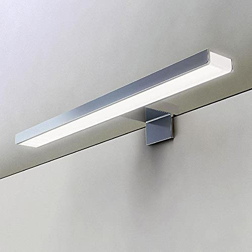 Kibath 30cm Aplique LED GUE para Espejo y Muebles de baño, 970 lumens, 51 Leds, 10.2 W, 220 V, Cromo Brillo, 30 cm