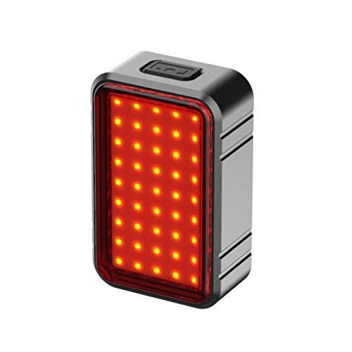 Liangcheng Bici Fanale Posteriore, Creativo USB Ultra Luminoso di Carica Posteriore della Bici Luce Esterna Rossa Ad Alta Intensità Posteriore Accessori della Bicicletta LED,Smart