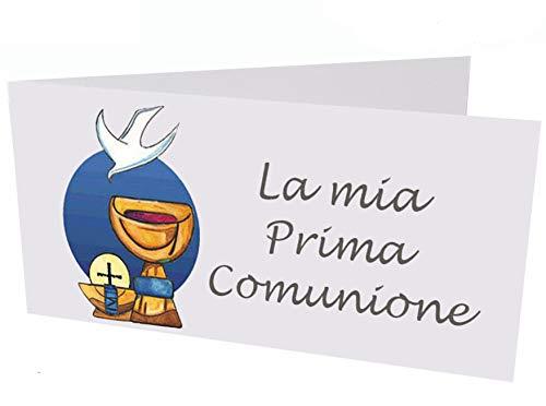 Giomel Bigliettini Bomboniera Prima Comunione con Calice 50 Pezzi
