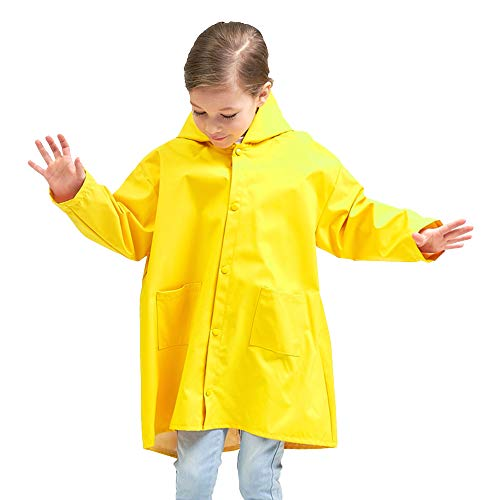 Chubasquero amarillo para niños