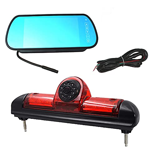"Auto Dritte Dach Top Mount Bremsleuchte Kamera Bremslicht Rückfahrkamera für Citroen Jumper/FIAT DUCATO X250 / Peugeot Boxer +7.0\"" Zoll Monitor TFT Bildschirm LKW KFZ LCD Display"