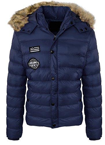 Heren winterjas gewatteerde jas outdoorjas gevoerd warm herenjack H-129 S-XXL