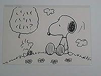 スヌーピーミュージアム SNOOPY MUSEUM TOKYO 原画ポストカード 521 PEANUTS スヌーピー ウッドストック