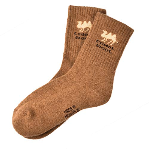 キャメル ウール 靴下 25cm〜27cm Mongolian Camel Wool Socks