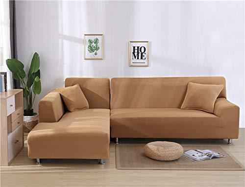 Fundas de sofá Impresas en Forma de L para Sala de Estar Protector de sofá Antipolvo Fundas de sofá elásticas para sofá de Esquina seccional A32 de 4 plazas