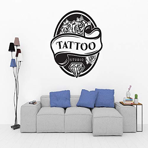 JXWH Tattoo Shop Salon Logo Muursticker Studio Kunst Vinyl Sticker voor de woonkamer Tattoo Sticker voor ramen, muren