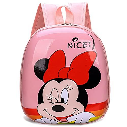 Miotlsy Mochila Infantil Minnies Mouses Mochila,Bolsa Impermeable 3D Mochila para Niños, Mochila para niños de Dibujos Animados Impermeable y Ajustable Adecuado para Niños y Niñas de 2 a 6 Años