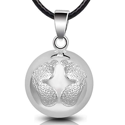EUDORA Harmony Ball Llamador de Angeles Embarazada, Colgantes Mujer Collar Música Timbre Bell Mujeres Joyas Niñas, Damas, Profesor, Madres y Hermanas, 76CM