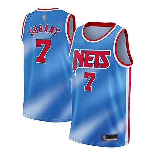 KKSY NBA Jersey Kevin Durant Brooklyn Nets # 7 Swingman Edition Jersey, Ropa Deportiva, Baloncesto Jersey,B,XXL