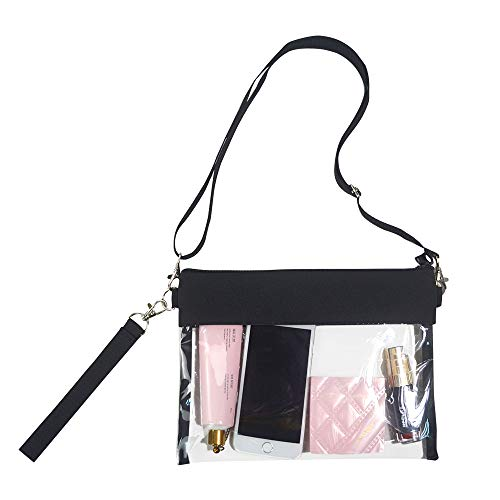 Clear Crossbody Purse Bag - NFL,NCAA Stadium Approved Clear Tote Bag