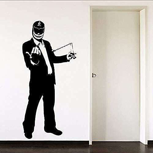 Mexicaanse worstelaar pet pak knappe jongen PVC muur kunst Sticker Sticker jongens tieners slaapkamer woonkamer huis Deractie 28 X 60Cm