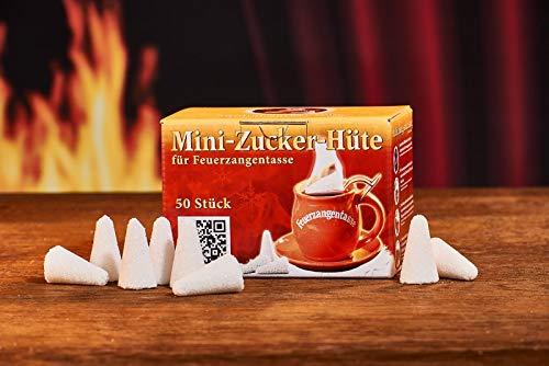 Feuerzangentasse Mini-Zucker-Hütchen (50 Stück) Original Mini Zuckerhütchen für Feuerzangenbowle