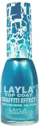 Layla Cosmetics Top Coat Graffiti Nagellack, pearled green ocean, 1er pack (1 x 0.01 L)