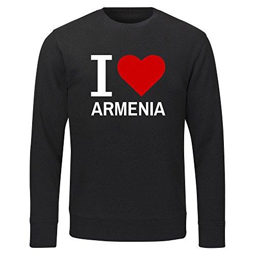 Multifanshop Sweatshirt Classic I Love Armenia - schwarz - Größe S bis 2XL, Größe:XXL