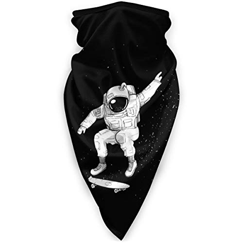 The Skateboard of The Astronaut Windproof Sports Face Cover Mouth Cover Magic Scarf, Bandana, Balaclava for Women&Men,Kids