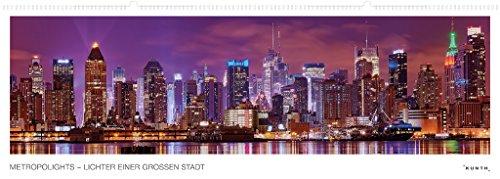 Metropolights - Lichter einer großen Stadt, Kalender: Panoramaformat, immerwährend (KUNTH Wandkalender Panorama 101 x 35 cm) - Partnerlink