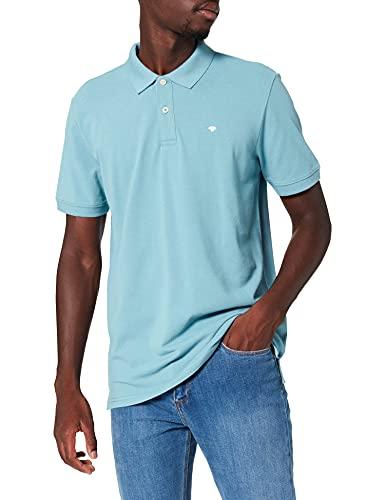 TOM TAILOR Herren 1027712 Basic Polo T-Shirt, 27422 - Smokey Aqua, XL