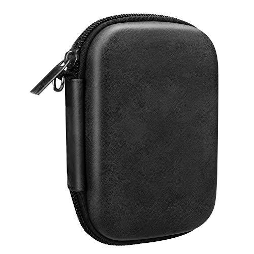 Fintie Tas voor HP Sprocket Fotoprinter Premium Kunstleer Gecoate Sterke Eva-hardschalen Fotoprinter Draagtas Case Cover Hoes Etui Bescherming voor HP Sprocket, (Zwart)