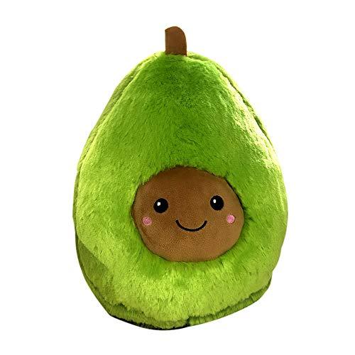 DecoBay Avocadoöl Plüsch Kissen Dekokissen Obst Kuschelig Flauschig Plüschtier Spielzeug Geschenke Sofa Dekoration (20cm)