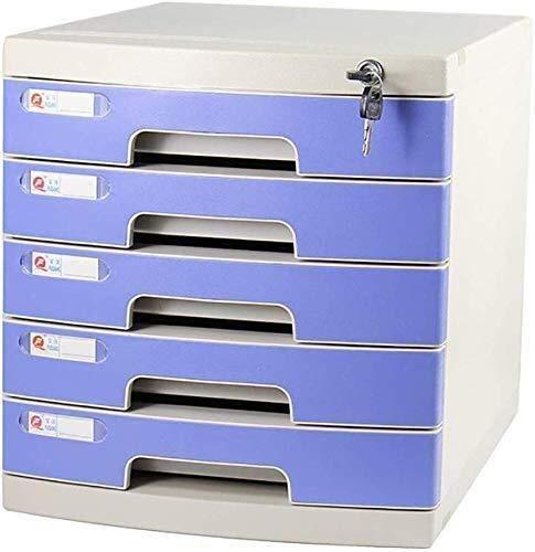Platte nietmachine voor bureau, opbergdoos voor meubels, archive, 6/7 laden, met slot, hoge capaciteit voor A4-bestanden, 7 lagen, opbergdoos 2