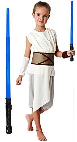Gojoy shop- Disfraz de Rey Palpatine de Star Wars 9 para Niñas Carnaval (Contiene Camiseta, Pantalón, Mangas, Cinturón, 4 Tallas Diferentes) (7-9 años)