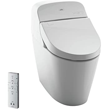 Toto MS920CEMFG#01 1.28-GPF/0.9-GPF Washlet with Integrated Toilet G400, Cotton White