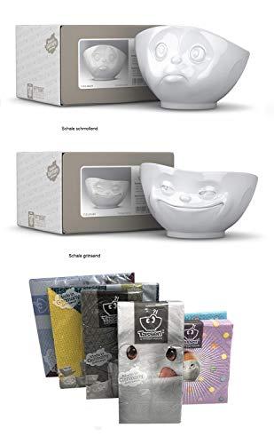 Fiftyeight Tassen 2er-Set TV Tassen Grinsende Tasse, Schmollende Tasse Porzellan