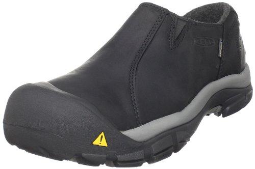 KEEN Men's Brixen Lo Waterproof Insulated Shoe,Black/Gargoyle,11 M US
