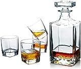 YYhkeby Whisky Set Crystal Flows Whiskey Whisky Botella con 4 Gafas Whisky con Gorra hermética (Color: Withwoderensuppor Jialele