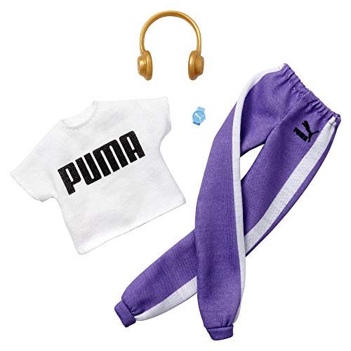 Barbie Clothes: Puma Outfit Doll with 2 Accessories, Sweat Pants Set