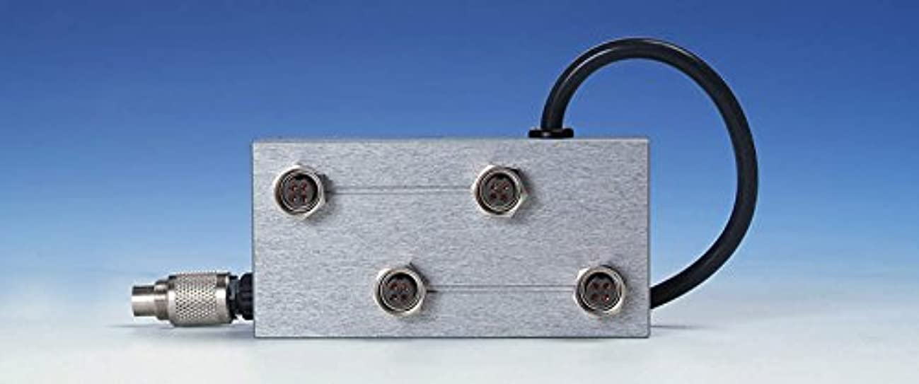 黒くする示すに対応リモートドライブ電磁スターラー用 4分配器 HP93104