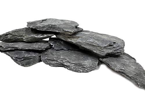 Naturschiefer-Steine für Aquarien, Größe XL, 20,3 bis 25,4 cm Limitierte Lieferung. PH-neutral Ideal für Aquascaping und Igwami Aquarien, Reptilien und Amphibien (ca. 18 - 9 kg)