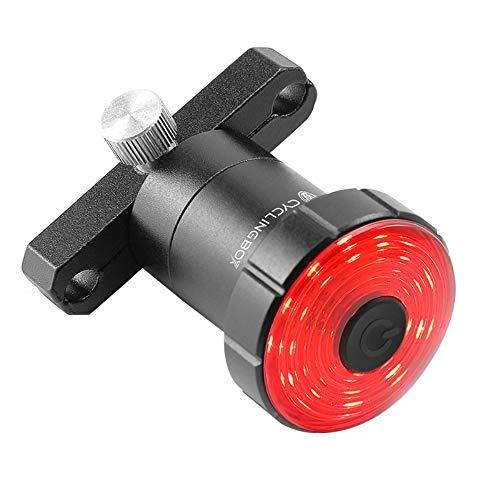 Akin - Luz trasera LED para bicicleta con USB, recargable, luz trasera, sensor de freno inteligente, con 7 modos, IPX5, impermeable, luz trasera para bicicleta de montaña