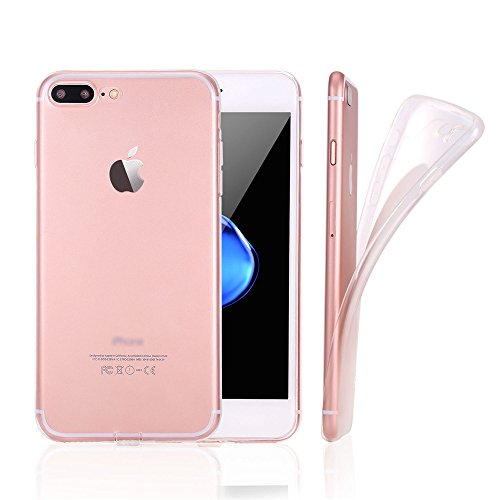 Coque iPhone 8 Coque iPhone 7 Jenuos Housse Etui Bumper Protection en TPU Silicone Gel Clair Crystal Cover pour iPhone 7 et iPhone