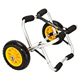 Bonnlo Foldable Kayak Trolley, Upgraded NO-Flat Airless Tires, Aluminum Frame Canoe Carrier, 90KG Loading Capacity, Heavy Duty Aluminium Trolley