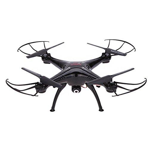 Syma Drone quadricoptero con telecomando e videocamera HD 2.4G (4 canali e 6 assi) 3D Flip Fly UFO eversione a 360 gradi con scheda SD da 4 GB Nero