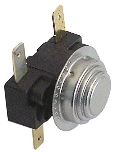 Fagor thermostaat voor FI-48B, FI-64B, FI-48, FI-48W, FI-100 2-polig NC/NO 66/57°C aansluiting platte stekker 6,3 mm 16A